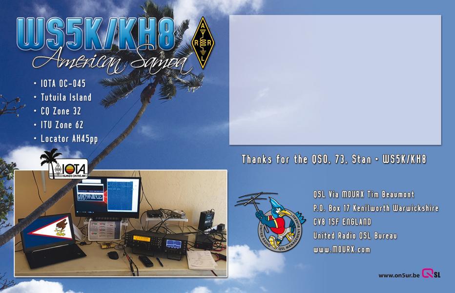 K800 QSL-WS5K-KH8-Back
