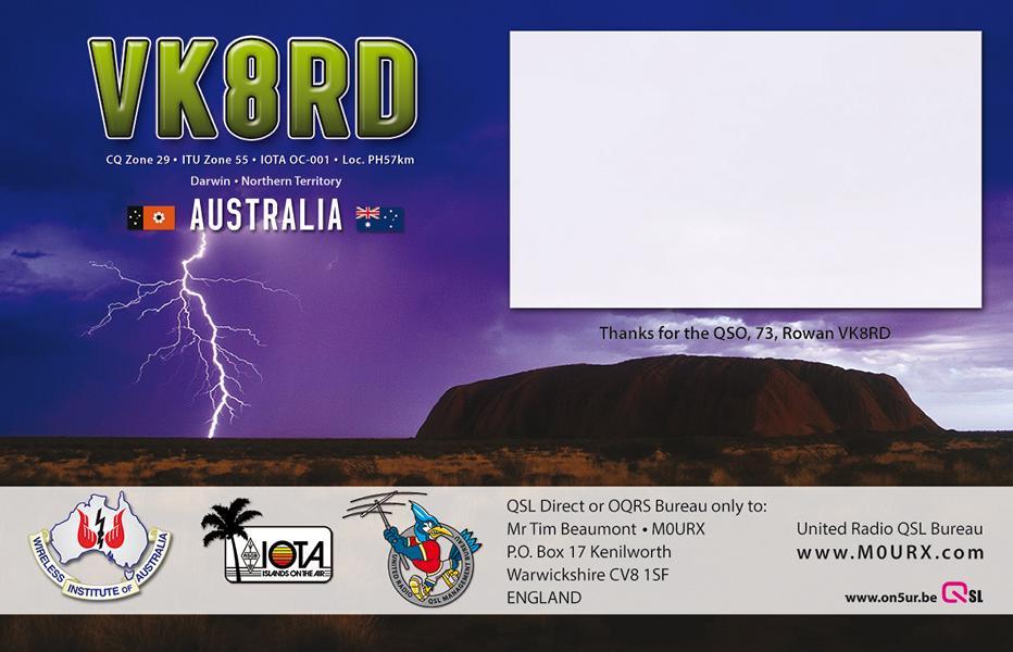 K800 QSL-VK8RD-BACK
