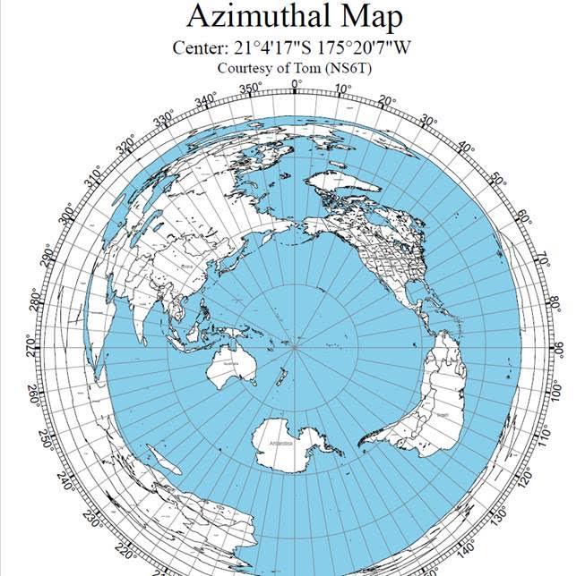 Tonga azmuith map