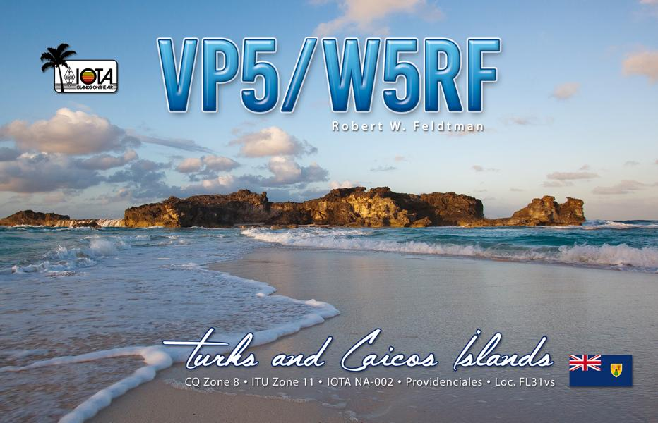 K800 QSL-VP5-W5RF