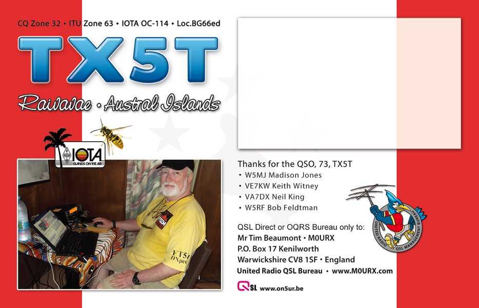 K800 QSL-TX5T-BACK